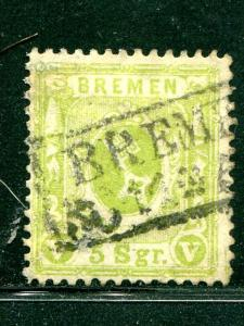 Bremen #15  Used VF  Cat $3750