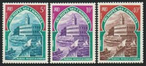 Comoro Isls 87-89,MNH.Michel 110-112. Friday Mosque,Sailing boats,1970.