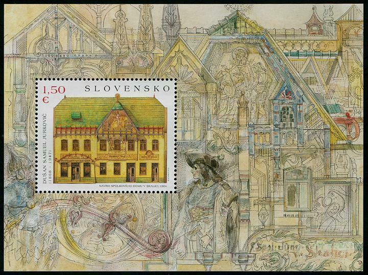 HERRICKSTAMP NEW ISSUES SLOVAKIA Sc.# 730 Art 2015 - Paintings S/S