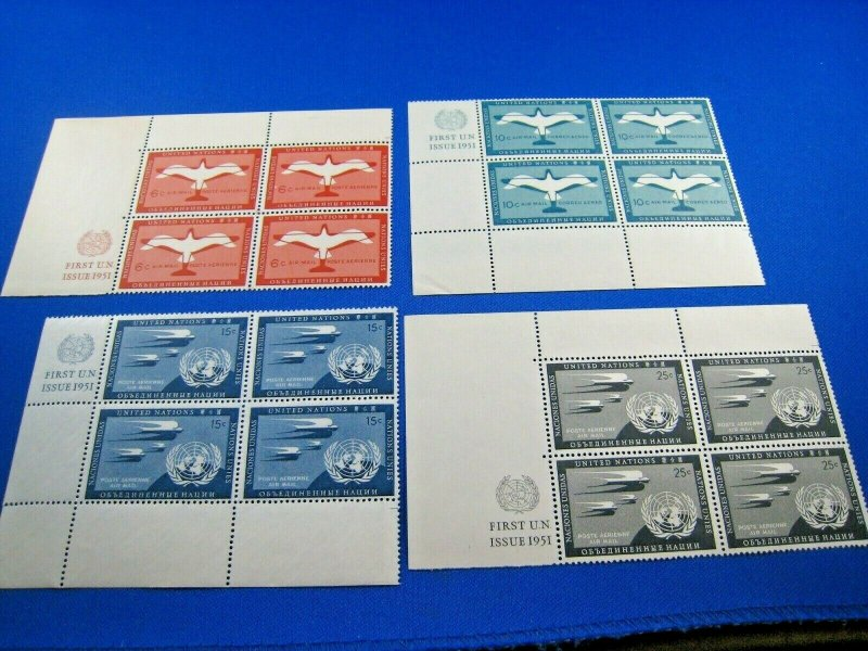 UNITED NATIONS  -  SCOTT # C1-C4 (3a)   MNH   (wwun3)