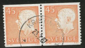 SWEDEN Scott 650 used 1964 45o coil pair