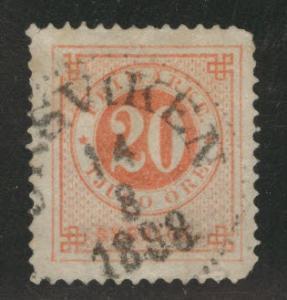 SWEDEN Scott 46 used 1886  stamp