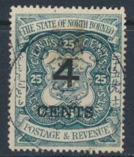 North Borneo SG 118 Used  / FU   OPT  see details & scans