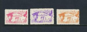 TUNISIA 1957 PROCLAMATION SET, VF MNH Sc#312-4 CAT$42 (SEE BELOW