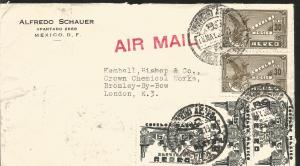 J) 1938 MEXICO, SYMBOLICAL OF FLIGHT, SYMBOL OF AIR SERVICE, MULTIPLE STAMPS, AI
