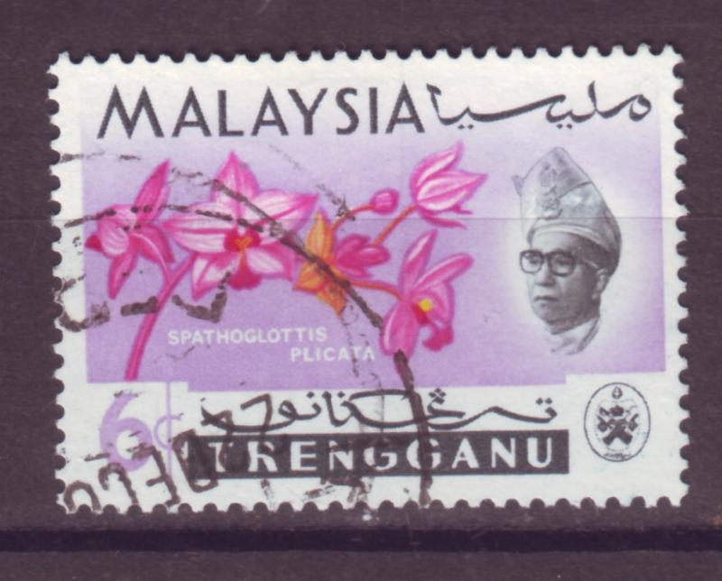 J18020 JLstamp  [low price] 1965 malaya trengganu a hv of set used #89 flowers