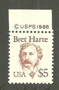 1986 SC2196 $5 writer Bret Harte MNH