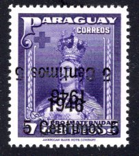 Paraguay #432, Error – Double Overprint, One Inverted.   MNH ...  4910315