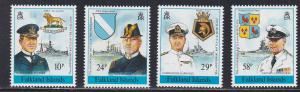 Falkland Islands # 511-514, Commanders & Their Ships, NH, 1/2 Cat.