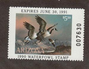 AZ4 Arizona State Duck Stamp. MNH. OG.
