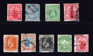 NEW ZEALAND OLD USED STAMP COLLECTION LOT