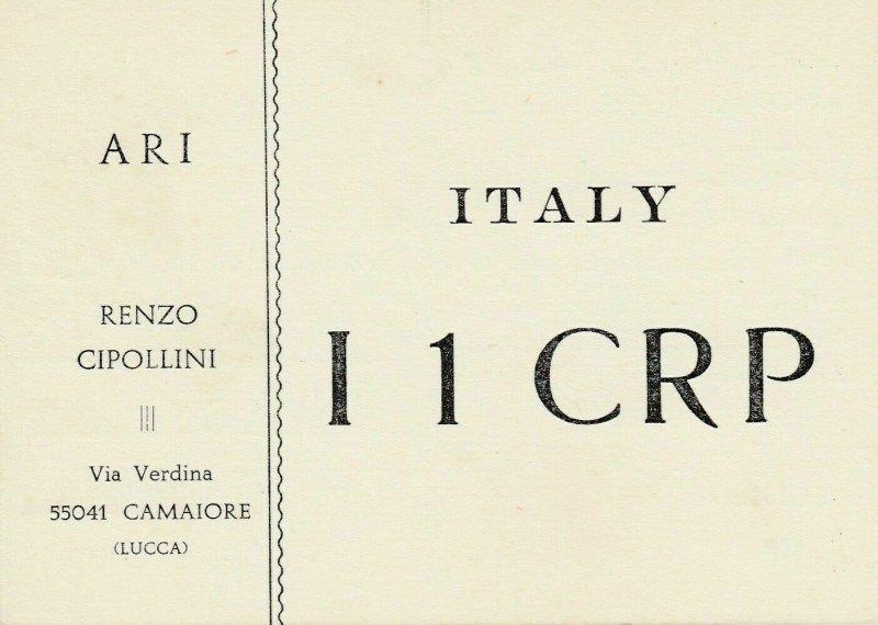 8804 Amateur Radio QSL Card  CAMAIORE LUCCA ITALY