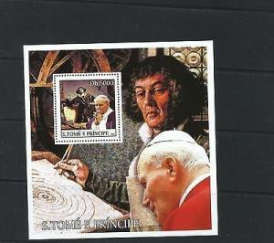 O) 2003 SAO TOME AND PRINCIPE, POPE JOHN PAUL II, NICOLAS COPERNICO-ASTRONOMER R