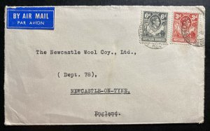 1952 Northern Rhodesia Airmail Cover To Newcastle England
