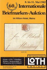 60. Loth-Briefmarken-Auktion: Internationale Briefmarkena...