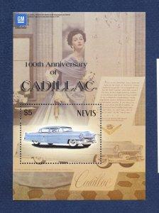 NEVIS - Scott 1348 -  FVF MNH S/S - Cadillac Car - 2003