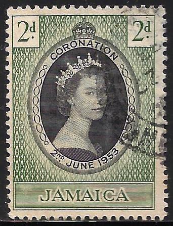 Jamaica 1953 Scott# 153 Used