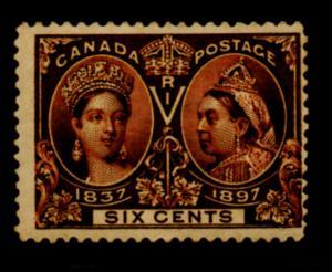 Canada Sc 55 1897 6c Victoria Jubilee stamp mint