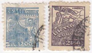 Brazil, Scott # 523-524, Used