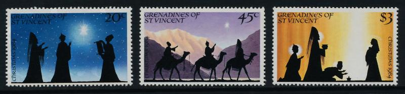 St Vincent Grenadines 469-71a MNH Christmas Carols, Music, Animals