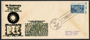 #906 ON FIRST DAY COVER CACHET BY CROSBY DENVER, CO. JULY 7, 1942 BT9997