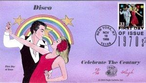 Pugh Designed/Painted Celebrate Disco FDC...82 of 96 created!