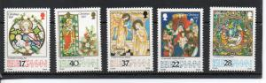 Isle of Man #524-528 MNH CV$4.65 Christmas German Magi Churches Adoration