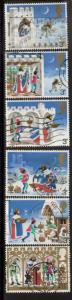 Great Britain Sc 709-4 1973 Christmas stamps used