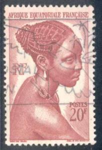French Equatorial Africa ~ #183 ~ Bacongo Woman ~ Used