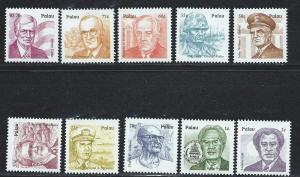 PALAU SC# 485-94 VF MNH 1999