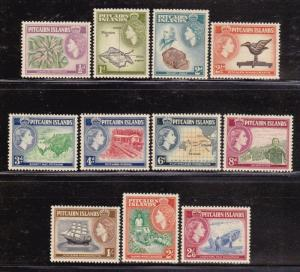 Pitcairn Is 20-30 VF-MLH set nice colors cv $ 64 ! see pic !