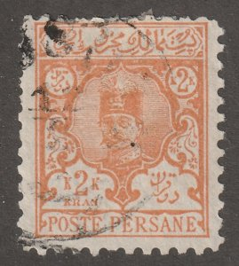 Persian stamp, Scott#88, used, hinged, 2KR, orange, #ed-191