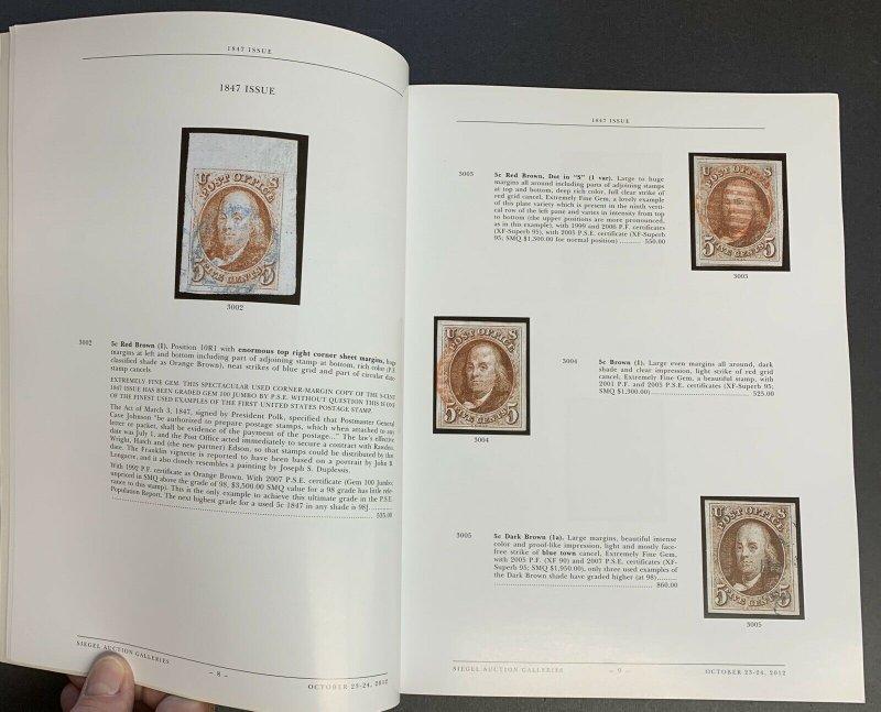 Nick Kirke Collection of U.S., Robert A. Siegel, Sale 1032,  Oct. 23-24, 2012
