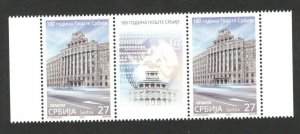 SERBIA - MNH STRIP - 100th ANNIVERSARY OF THE POST OF SERBIA - 2020.