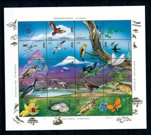 [40583] Mongolia 1994 Animals Birds Squirrel Insects MNH Sheet