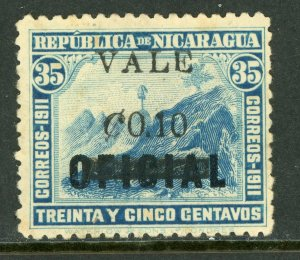 Nicaragua 1914 Liberty Overprint 10¢/35¢(Error) VFU H373