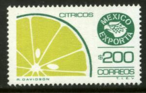 MEXICO Exporta 1584 $200P Citrus Fruit Fosfo Paper 10 MNH