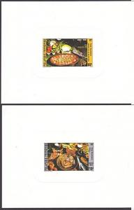 FRENCH POLYNESIA 1986 Food / Cooking set of 2 deluxe proofs.................4037