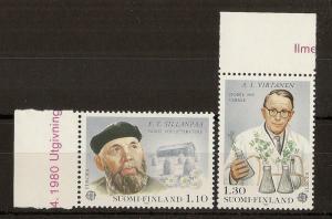 Finland 1980 Nobel Prizes SG967-968 MNH