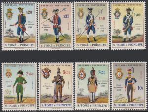 St. Thomas & Prince Is. 384-91 MNH - Soldiers