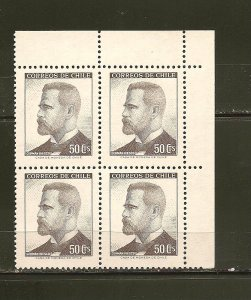 Chile 355 German Riesco Block of 4 MNH