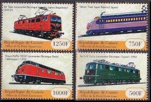 2001 Guinea 3129-3132 Locomotives 13,00 €