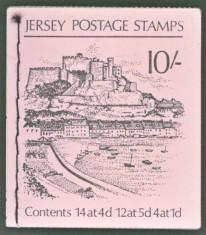 Jersey SG#SB3 Booklet with Inverted Panes 10/- Orguil Castle