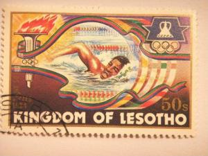 LESOTHO, 1984 50s CTO, Olympic Games, Los Angeles SG 592  Value £ 0.20