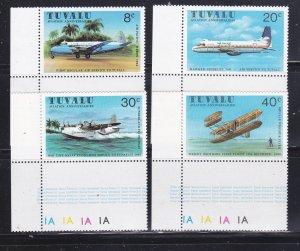 Tuvalu 142-145 Set MNH Planes (B)