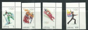 1994 Latvia Scott Catalog Number 356-359 Unused Never Hinged