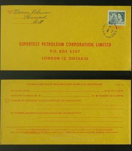 Harwood Ont open circle postmark 1972 Centennial 544