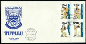 Tuvalu 574-577,FDC.Michel 595-598. South Pacific Games 1991.Soccer,Volleyball,