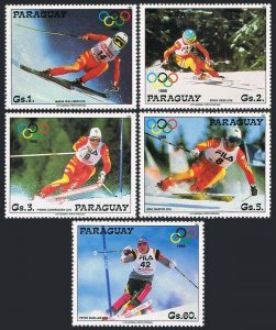 Paraguay 2234-2137b,MNH.Michel 4175-4179. Olympics Calhary-1988.Winners.
