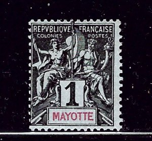 Mayotte 1 MH 1892 issue  (P58)